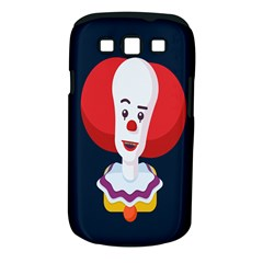 Clown Face Red Yellow Feat Mask Kids Samsung Galaxy S Iii Classic Hardshell Case (pc+silicone)