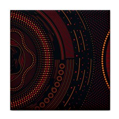 Creative Direction Illustration Graphic Gold Red Purple Circle Star Tile Coasters