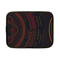 Creative Direction Illustration Graphic Gold Red Purple Circle Star Netbook Case (small)