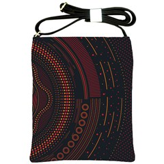 Creative Direction Illustration Graphic Gold Red Purple Circle Star Shoulder Sling Bags