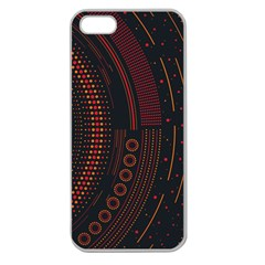Creative Direction Illustration Graphic Gold Red Purple Circle Star Apple Seamless iPhone 5 Case (Clear)