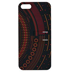 Creative Direction Illustration Graphic Gold Red Purple Circle Star Apple iPhone 5 Hardshell Case with Stand