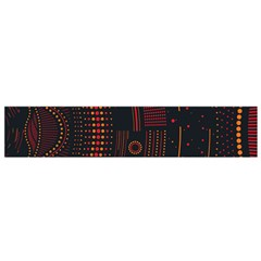 Creative Direction Illustration Graphic Gold Red Purple Circle Star Flano Scarf (Small)