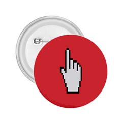 Cursor Index Finger White Red 2 25  Buttons
