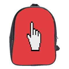 Cursor Index Finger White Red School Bags (xl)
