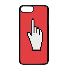 Cursor Index Finger White Red Apple Iphone 7 Plus Seamless Case (black)