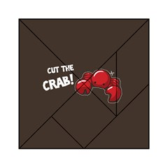 Cutthe Crab Red Brown Animals Beach Sea Acrylic Tangram Puzzle (6  x 6 )