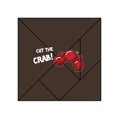 Cutthe Crab Red Brown Animals Beach Sea Acrylic Tangram Puzzle (4  X 4 )