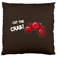 Cutthe Crab Red Brown Animals Beach Sea Large Cushion Case (two Sides)