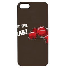 Cutthe Crab Red Brown Animals Beach Sea Apple Iphone 5 Hardshell Case With Stand