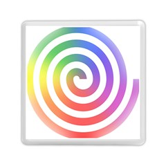 Circle Purple Blue Red Green Yellow Memory Card Reader (Square)