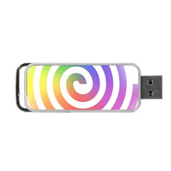 Circle Purple Blue Red Green Yellow Portable Usb Flash (one Side)