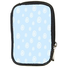 Circle Blue White Compact Camera Cases