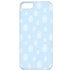Circle Blue White Apple Iphone 5 Classic Hardshell Case