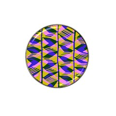 Crazy Zig Zags Blue Yellow Hat Clip Ball Marker (4 pack)
