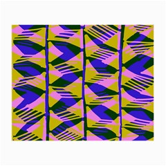 Crazy Zig Zags Blue Yellow Small Glasses Cloth