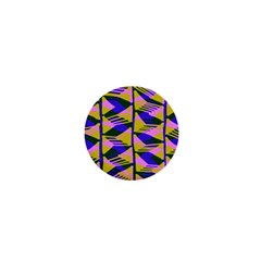 Crazy Zig Zags Blue Yellow 1  Mini Magnets