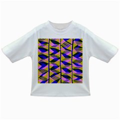 Crazy Zig Zags Blue Yellow Infant/Toddler T-Shirts