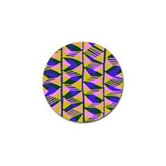 Crazy Zig Zags Blue Yellow Golf Ball Marker (10 Pack)