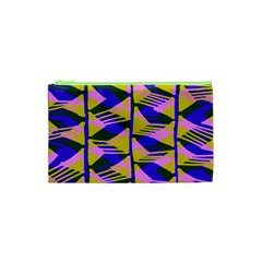 Crazy Zig Zags Blue Yellow Cosmetic Bag (XS)