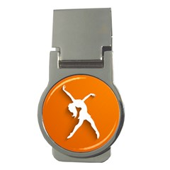 Dance Dancing Orange Girl Money Clips (Round)