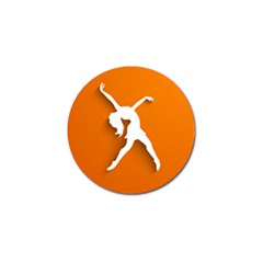 Dance Dancing Orange Girl Golf Ball Marker