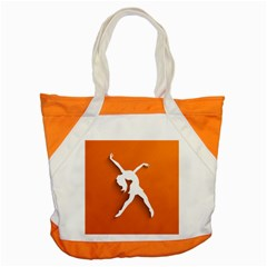 Dance Dancing Orange Girl Accent Tote Bag