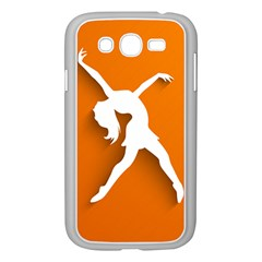 Dance Dancing Orange Girl Samsung Galaxy Grand Duos I9082 Case (white)