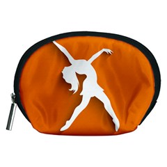 Dance Dancing Orange Girl Accessory Pouches (Medium)