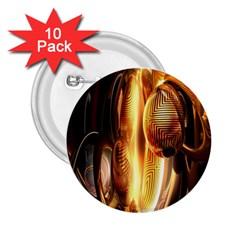 Digital Art Gold 2 25  Buttons (10 Pack)