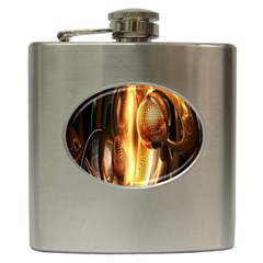 Digital Art Gold Hip Flask (6 Oz)