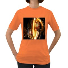 Digital Art Gold Women s Dark T Shirt