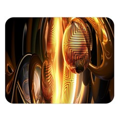 Digital Art Gold Double Sided Flano Blanket (Large)