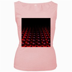 Digital Balls Lights Purple Red Women s Pink Tank Top