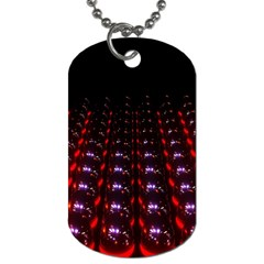 Digital Balls Lights Purple Red Dog Tag (one Side)