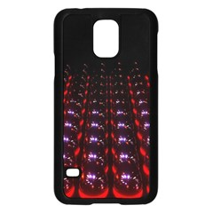 Digital Balls Lights Purple Red Samsung Galaxy S5 Case (Black)