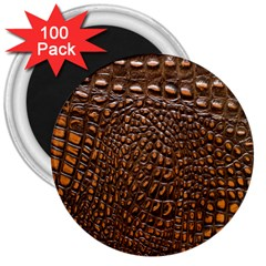 Crocodile Skin 3  Magnets (100 Pack)