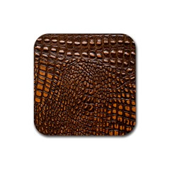 Crocodile Skin Rubber Square Coaster (4 Pack)