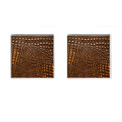 Crocodile Skin Cufflinks (square)
