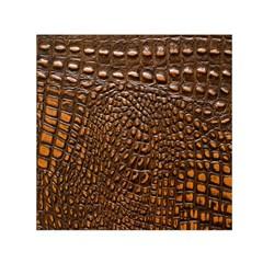 Crocodile Skin Small Satin Scarf (square)