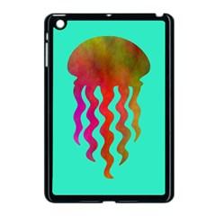 Jellyfish Blue Sq Apple Ipad Mini Case (black)