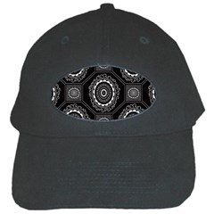 Circle Plaid Black Floral Black Cap