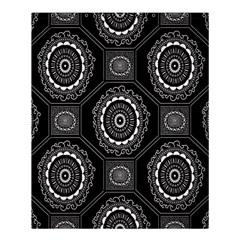 Circle Plaid Black Floral Shower Curtain 60  X 72  (medium)