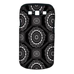 Circle Plaid Black Floral Samsung Galaxy S III Classic Hardshell Case (PC+Silicone)