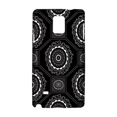 Circle Plaid Black Floral Samsung Galaxy Note 4 Hardshell Case
