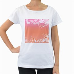 Flower Season Pink Purple Red Women s Loose Fit T Shirt (white)