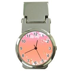 Flower Season Pink Purple Red Money Clip Watches