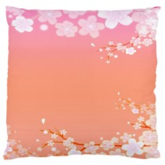 Flower Season Pink Purple Red Large Cushion Case (Two Sides)