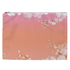 Flower Season Pink Purple Red Cosmetic Bag (xxl)