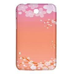 Flower Season Pink Purple Red Samsung Galaxy Tab 3 (7 ) P3200 Hardshell Case
